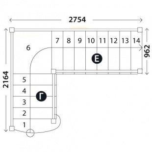 Лестница «Восток-Элегант» ПГ-950-10