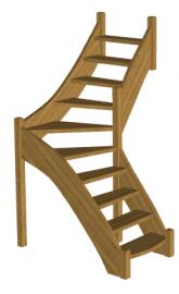 Лестница для бани «Восток-Элегант» Г-760-08