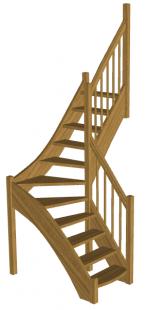 Г-образная лестница «Восток-Элегант» Г-760-10