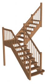 Лестница с площадкой «Восток-Элегант» ПГ-950-08