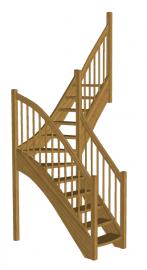 Лестница на второй этаж «Восток-Элегант» Г-760-21