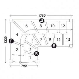 Г-образная лестница «Восток-Элегант» ГШГ-790-02