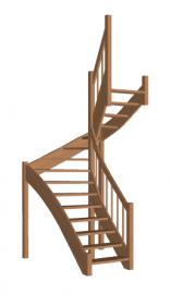 Лестница в коттедж «Восток-Элегант» П-950-25