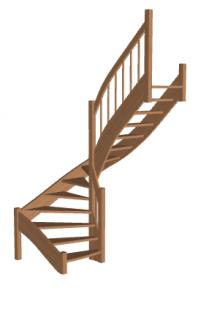 Лестница для дачи «Восток-Элегант» П-790-16