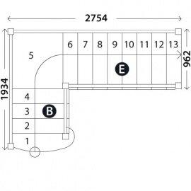 Лестница с площадкой «Восток-Элегант» ПГ-950-06