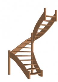 Лестница для дома «Восток-Элегант» П-790-22