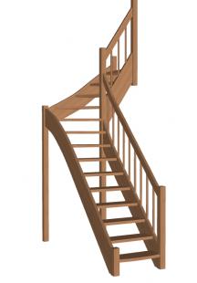 Лестница на второй этаж «Восток-Элегант» Г-760-37