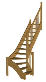 Г-образная лестница «Восток-Элегант» Г-760-14