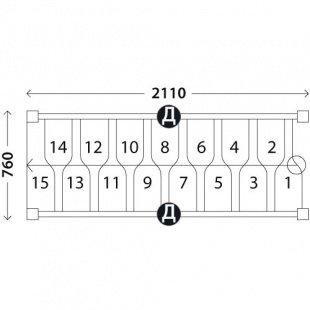 Лестница гусиный шаг «Восток-Элегант» ГШ-05