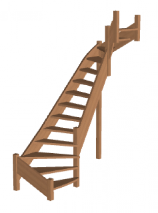 Лестница «Восток-Элегант» П2-790-07
