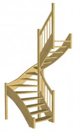 П-образная лестница «Восток-Элегант» П-790-03