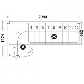 Лестница «Восток-Элегант» ПГ-950-24