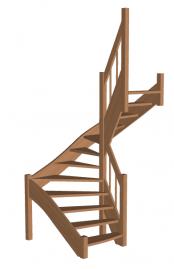 Лестница в баню «Восток-Элегант» П-950-09