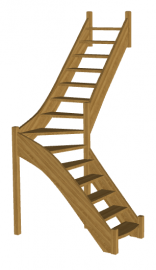 Г-образная лестница «Восток-Элегант» Г-760-07