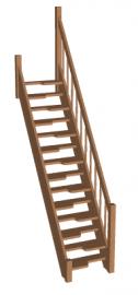 Лестница гусиный шаг «Восток-Элегант» ГШ-07