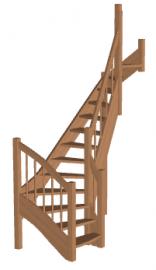 Лестница «Восток-Элегант» П2-790-01