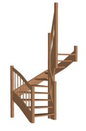 П-образная лестница «Восток-Элегант» П-790-21