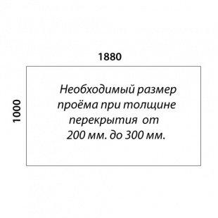 Г-образная лестница «Восток-Элегант» ГШГ-790-14