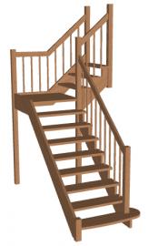 Г-образная лестница «Восток-Элегант» ПГ-950-28