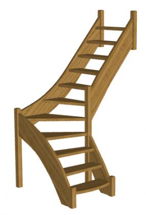 Лестница в баню «Восток-Элегант» Г-950-25