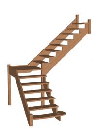 Лестница «Восток-Элегант» ПГ-950-15