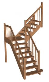 Лестница с площадкой «Восток-Элегант» ПГ-950-03