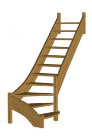 Лестница на второй этаж «Восток-Элегант» Г-790-22