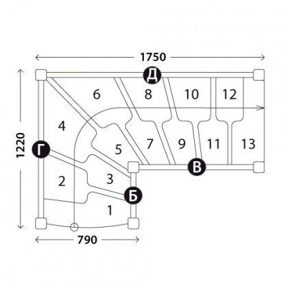 Лестницы гусиный шаг «Восток-Элегант» ГШГ-790-02