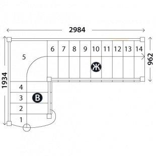 Лестница «Восток-Элегант» ПГ-950-11