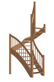 П-образная лестница «Восток-Элегант» П-790-09