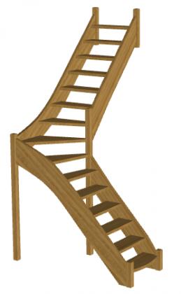 Лестница для дома «Восток-Элегант» Г-760-11