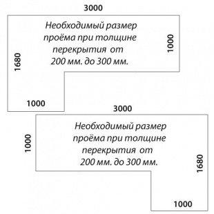 Лестница «Восток-Элегант» ПГ-950-16